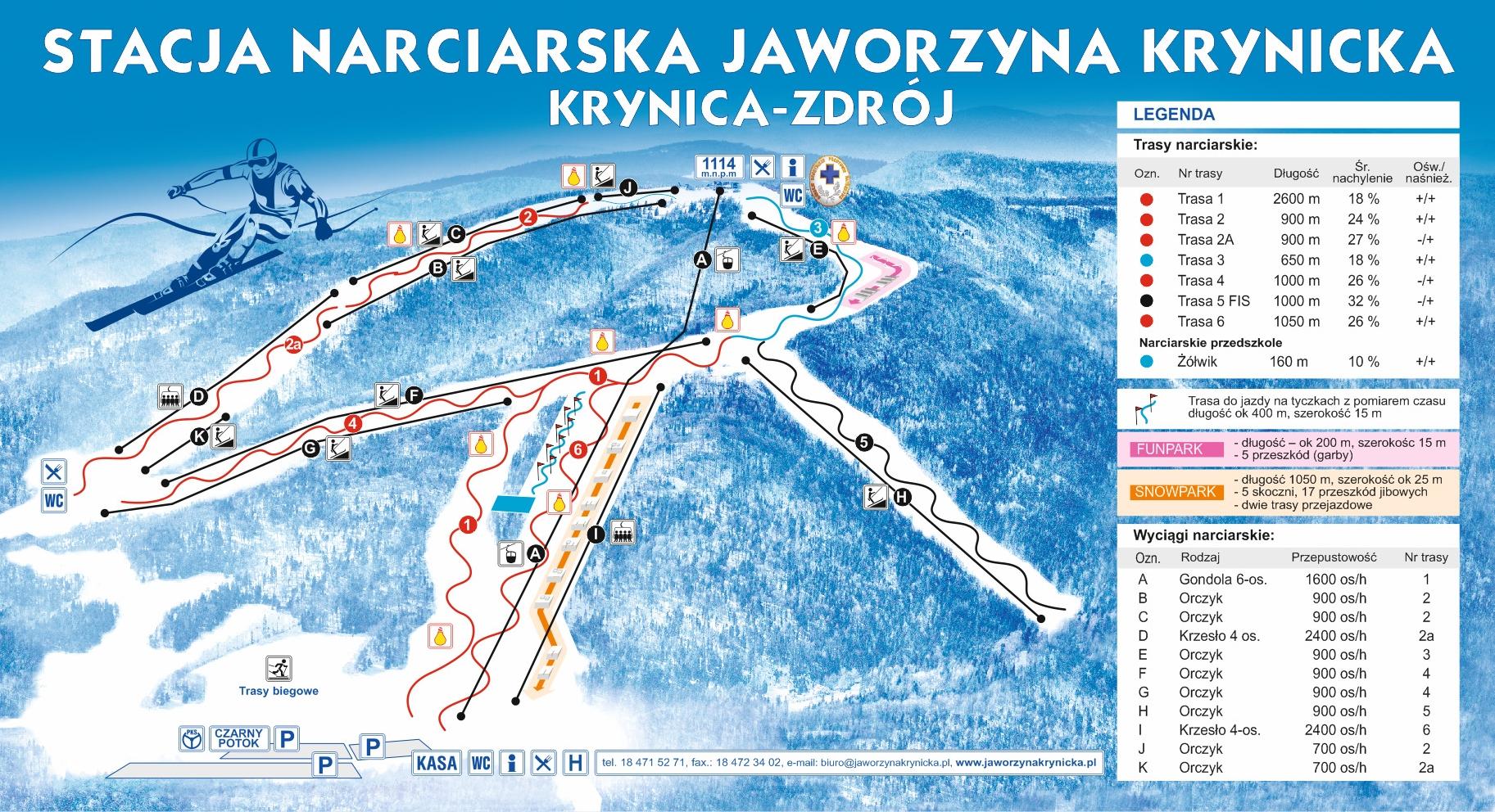Trasy Narciarskie Jaworzyna Krynicka